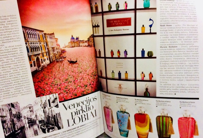 Merchant of Venice in Douglas magazine | photo by BonjourPerfume