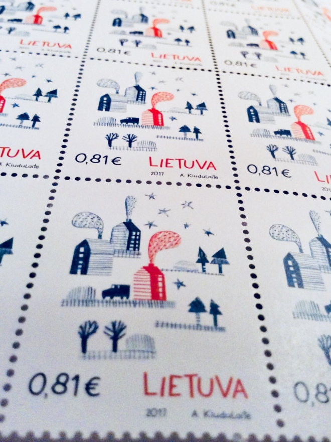 Fragrant stamps from Lithuania | photo by BonjourPerfume