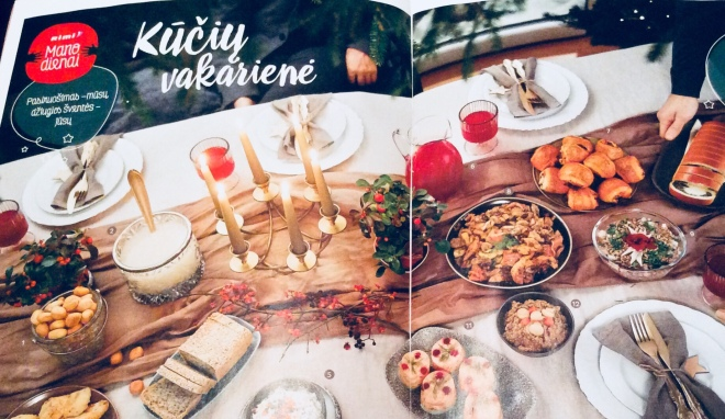 Rimi supermarket magazine for Christmas | photo by BonjourPerfume